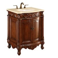 Elegant Lighting Brown 2 Door Vanity Cabinet