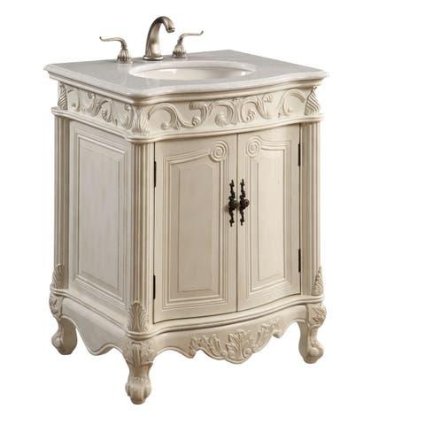 Elegant Lighting Antique White 2 Door Vanity Cabinet
