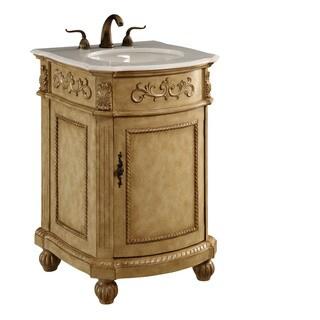 Elegant Lighting Antique Beige 1 Door Vanity Cabinet