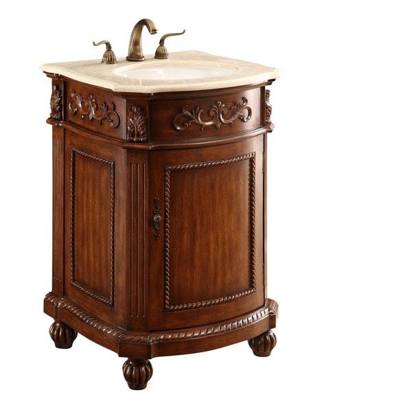Elegant Lighting Brown 1 Door Vanity Cabinet