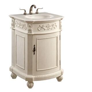 Elegant Lighting Antique White 1 Door Vanity Cabinet