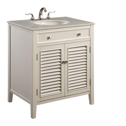 Elegant Lighting White 2 Door Vanity Cabinet