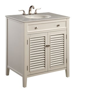 Elegant Lighting White 2 Door Vanity Cabinet