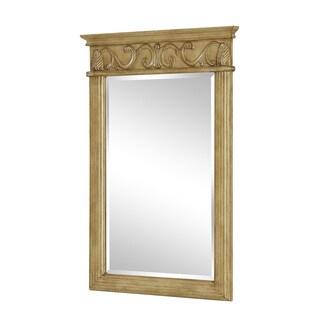"Elegant Lighting Antique Beige Vanity Mirror (25"" x 36"")"