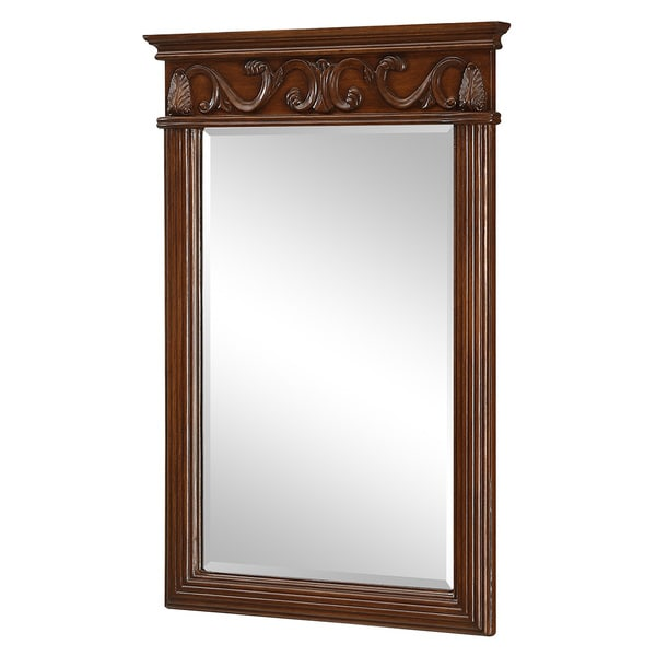 elegant lighting brown vanity mirror 25 x 36 free shipping to. Black Bedroom Furniture Sets. Home Design Ideas