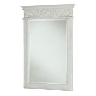 "Elegant Lighting Antique White Vanity Mirror (25"" x 36"")"