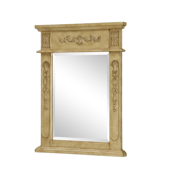 "Elegant Lighting Antique Beige Vanity Mirror (22"" x 28"")"