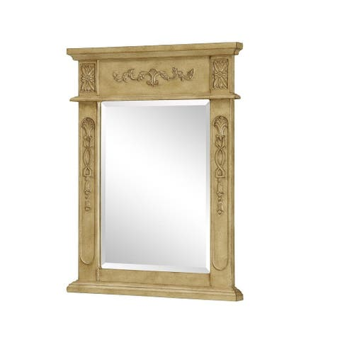 "Elegant Lighting Antique Beige Vanity Mirror (22"" x 28"")"