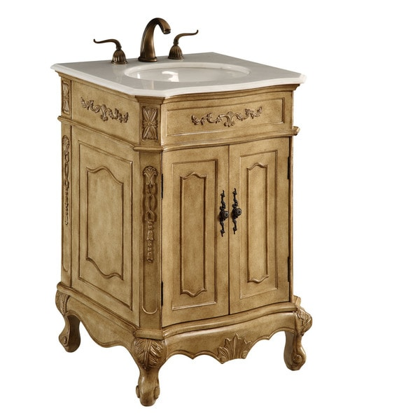 Elegant Lighting Antique Beige 2 Door Vanity Cabinet 18096057