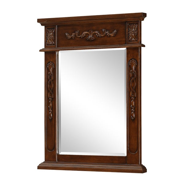 Shop Elegant Lighting Brown Vanity Mirror 22 Quot X 28