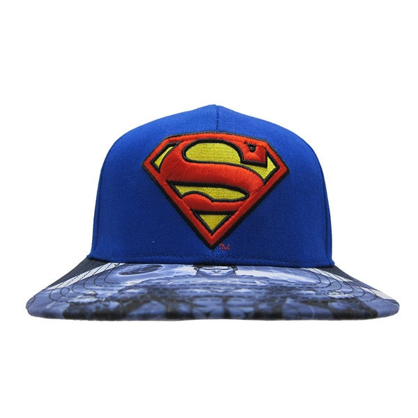Superman Blue Baseball Cap with Printed Bill