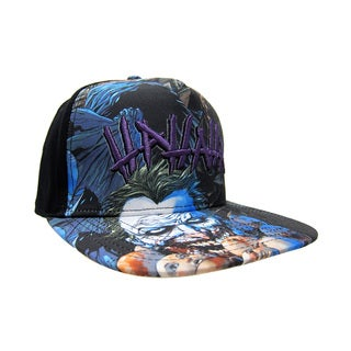 The Joker Black Baseball Cap with Printed Bill