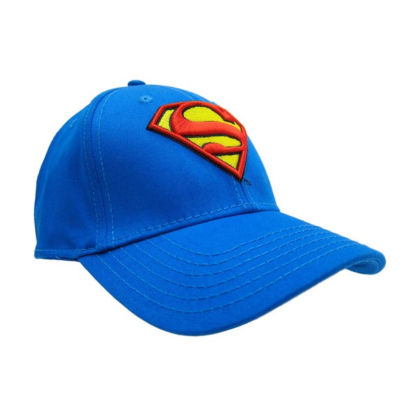 Superman Blue Embroidered Baseball Cap