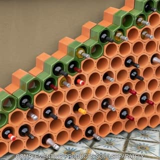 SomerTile 9.25x5-inch Botellera Green Glazed Terra Cotta Wine Rack|https://ak1.ostkcdn.com/images/products/11089089/P18096291.jpg?impolicy=medium