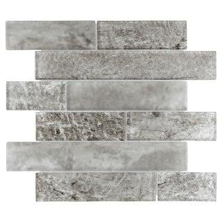 SomerTile 11.625x11.625-inch Iglu Panel Smoke Glass Wall Tile (Case of 10)