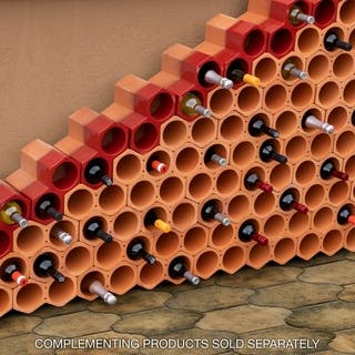 SomerTile 9.25x5-inch Botellera Red Glazed Terra Cotta Wine Rack|https://ak1.ostkcdn.com/images/products/11089101/P18096302.jpg?impolicy=medium