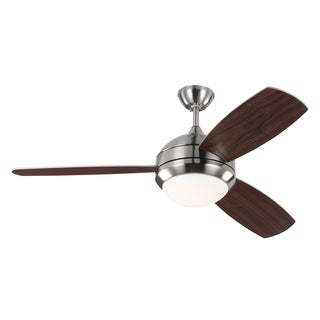 Monte Carlo Discus Trio 3 Blade Brushed Steel Ceiling Fan