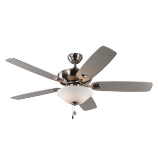 Monte Carlo Colony Max Plus 5 Blade Brushed Steel Ceiling Fan