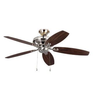 Monte Carlo Centro Max Uplight 5 Blade Polished Nickel Ceiling Fan
