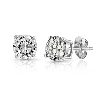 Pori 10k White Gold Cubic Zirconia Earrings