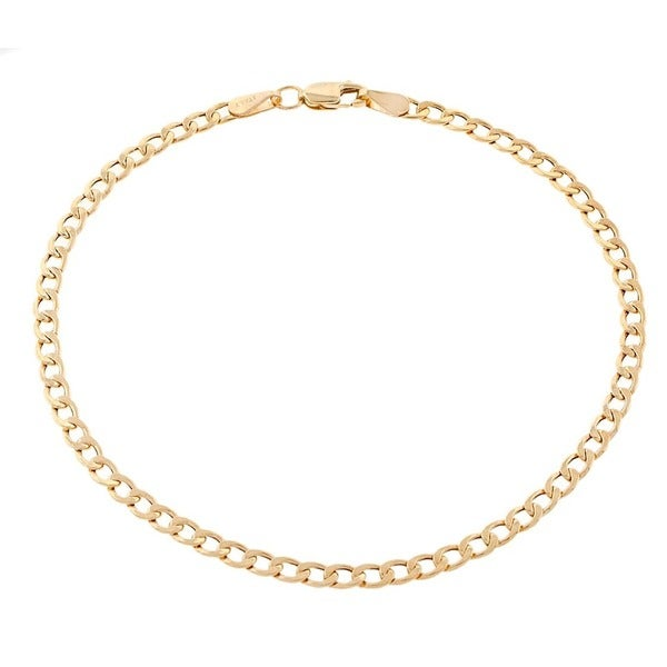 87b46a3bd Shop Pori Men's 10k Gold Cuban Chain Bracelet - On Sale - Free ...