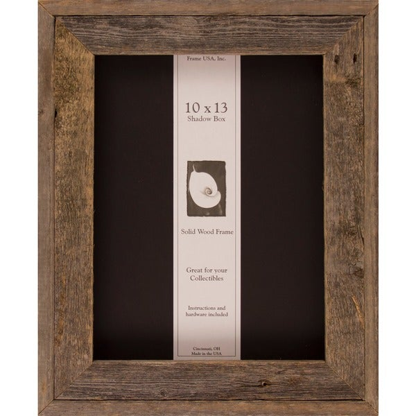 Shop Barnwood Shadow Box 10 X 13 Free Shipping Today Overstock