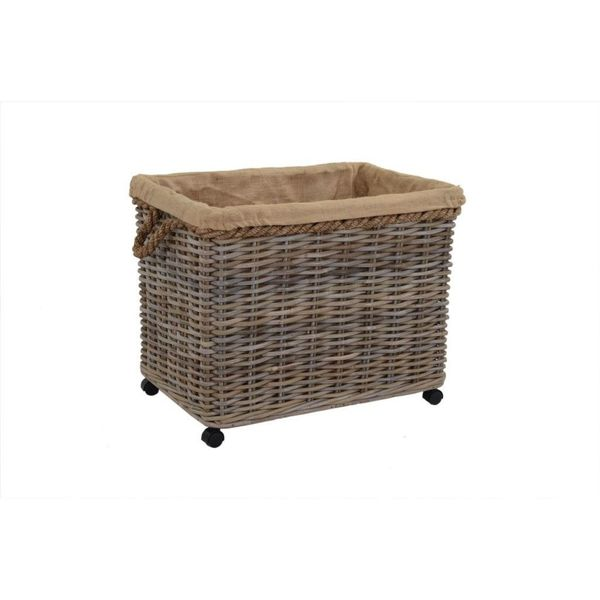 East At Main's Kelliann Large Kubu Grey Rolling Basket