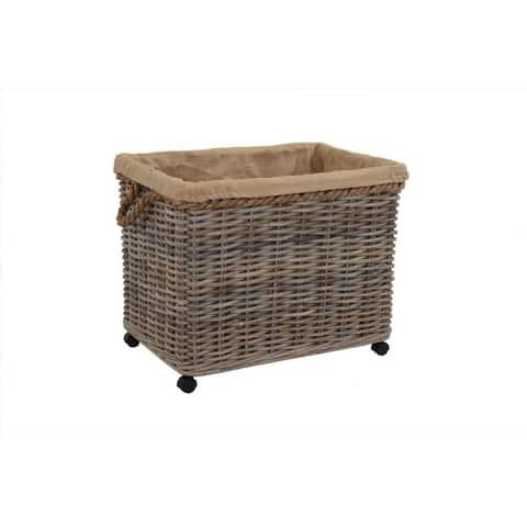 East At Main's Kelliann Large Kubu Grey Rolling Basket
