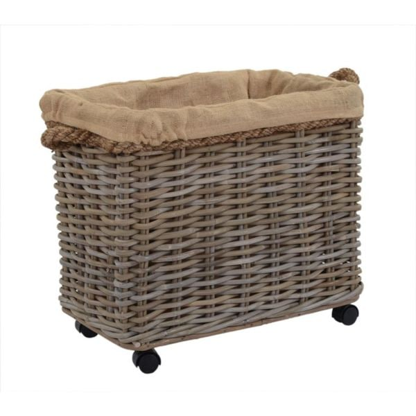 East At Main's Kelliann Medium Kubu Grey Rolling Basket
