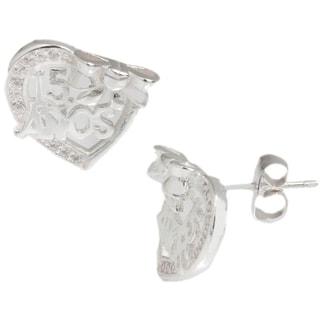 Pori Sterling Silver ANOS Heart Earrings
