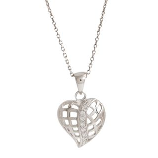 Pori Sterling Silver Fancy Heart Pendant Necklace