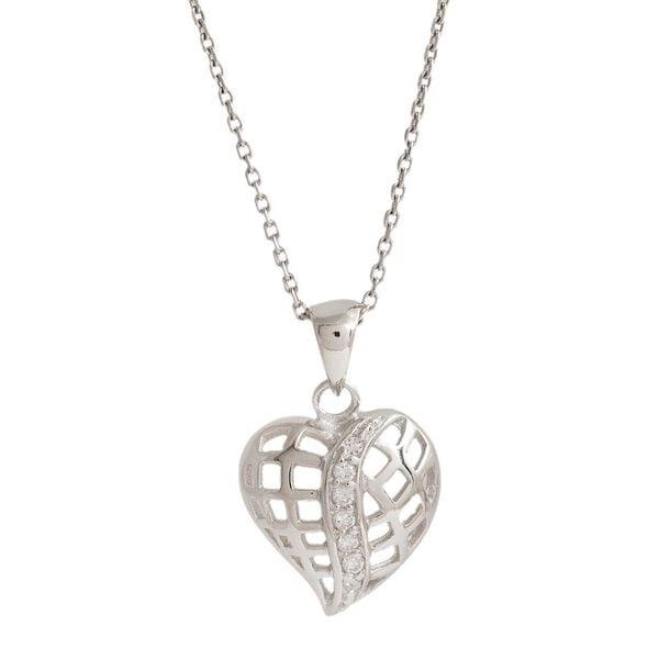 Shop Pori Sterling Silver Fancy Heart Pendant Necklace