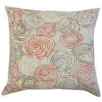 Blakesley Graphic Linen Down and Feather 18-inch Throw Pillow