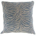 Ksenia Blue Zebra Print Down and Feather Filled 18-inch Throw Pillow