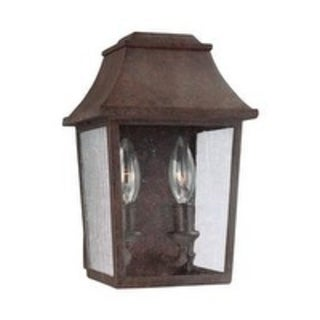 Feiss 2 - Light Outdoor Wall Lantern, Patina Copper