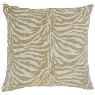 Ksenia Zebra Print Down and Feather Filled 18-inch Throw Pillow