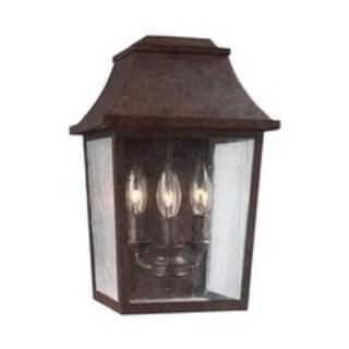 Feiss 3 - Light Outdoor Wall Lantern, Patina Copper
