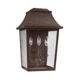 Feiss 3 - Light Outdoor Wall Lantern, Patina Copper