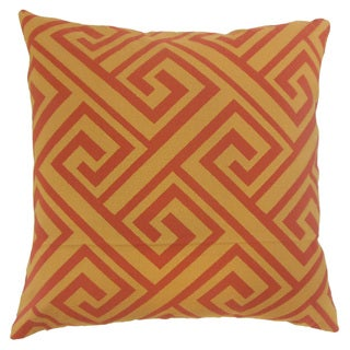 Josue Orange Geometric Down and Feather Filled 18-inch Throw Pillow