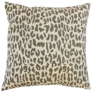 Ilandere Animal Print Down and Feather Filled 18-inch Throw Pillow