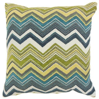 Hateya Zigzag Down and Feather Filled 18-inch Throw Pillow
