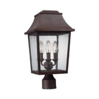 Feiss 3 - Light Outdoor Post Lantern, Patina Copper
