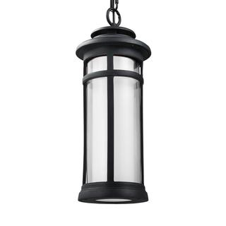 Feiss StoneStrong 1 - Light Outdoor Pendant Lantern, Dark Weathered Zinc