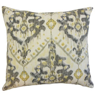 Picabia Ikat Linen Down and Feather 18-inch Throw Pillow