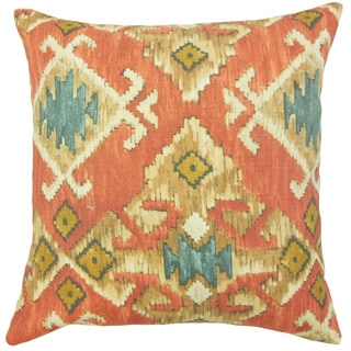 Nouevel Ikat Down and Feather Filled 18-inch Throw Pillow