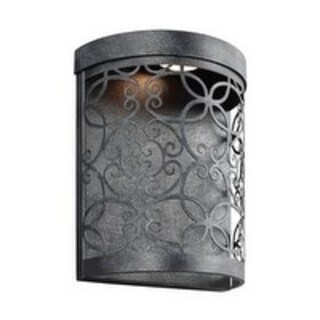 Feiss 1 - Light Outdoor LED Wall Lantern, Dark Weathered Zinc