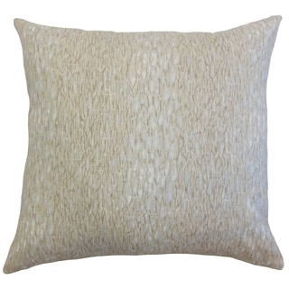 Galen Graphic Linen Down and Feather Filled 18-inch Throw Pillow
