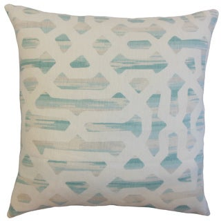 Farok Geometric Linen Down and Feather 18-inch Throw Pillow