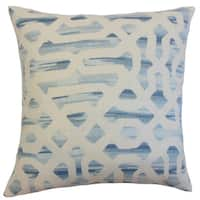 Farok Geometric Down and Feather Filled 18-inch Throw Pillow