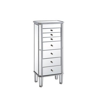 Elegant Lighting 7-drawer Mirrored Jewelry Armoire